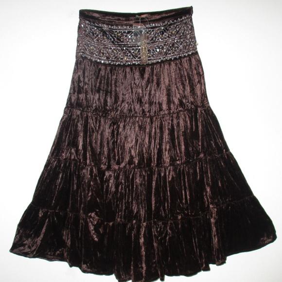 f08aabb1f2 YAG Skirts | Brown Peasant Boho Gypsy Vintage Women Skirt | Poshmark
